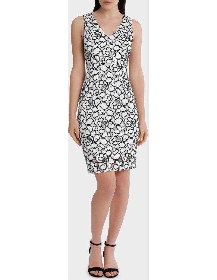 lace v-neck dress image 2