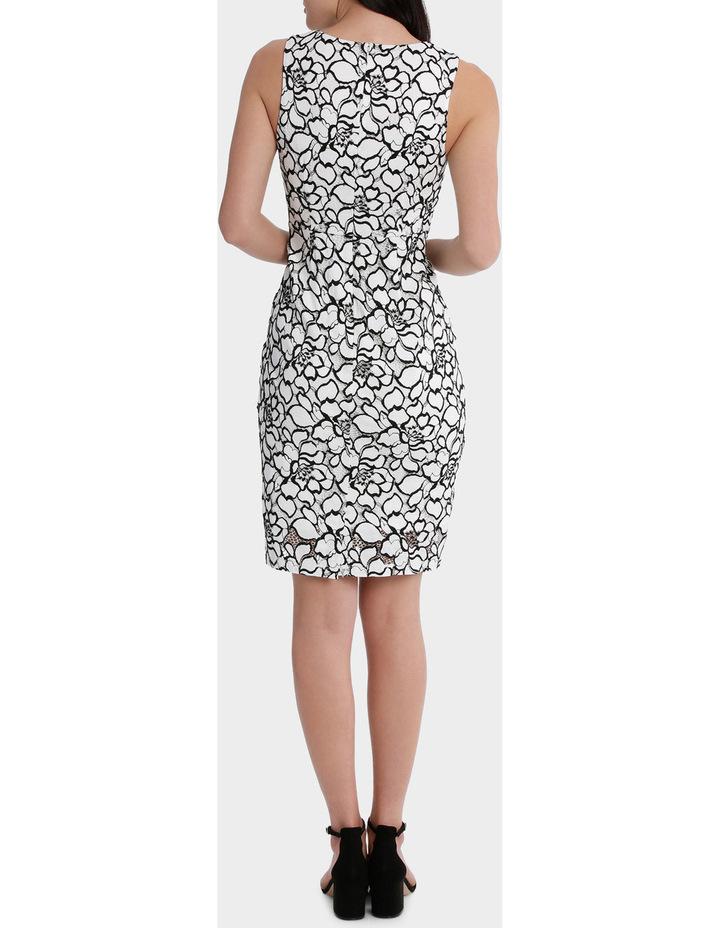 lace v-neck dress image 3