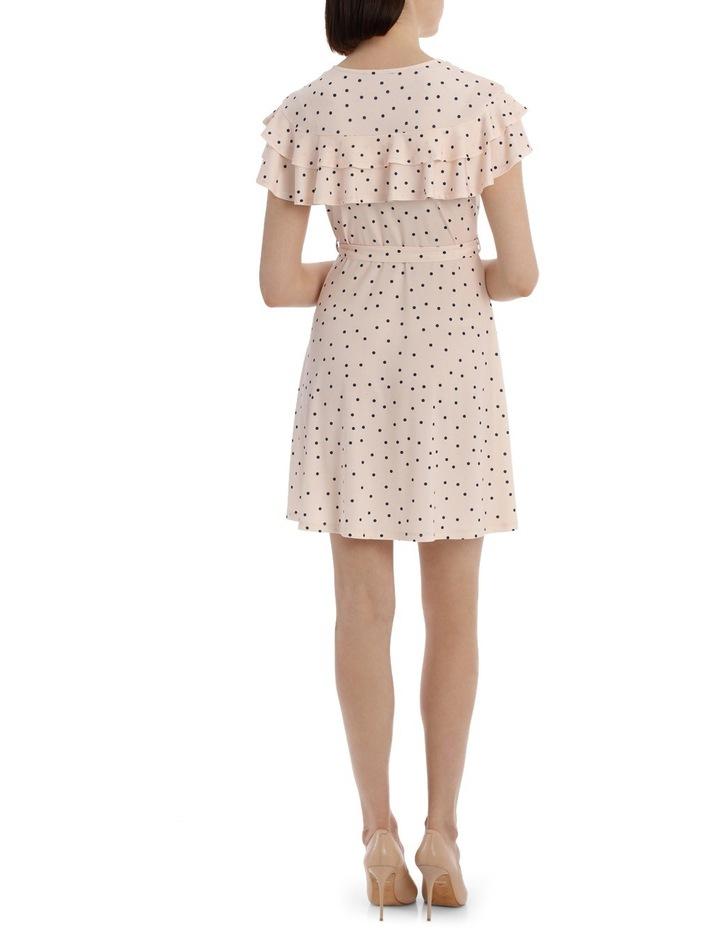Frill Front Knit Mock Wrap Dress image 3
