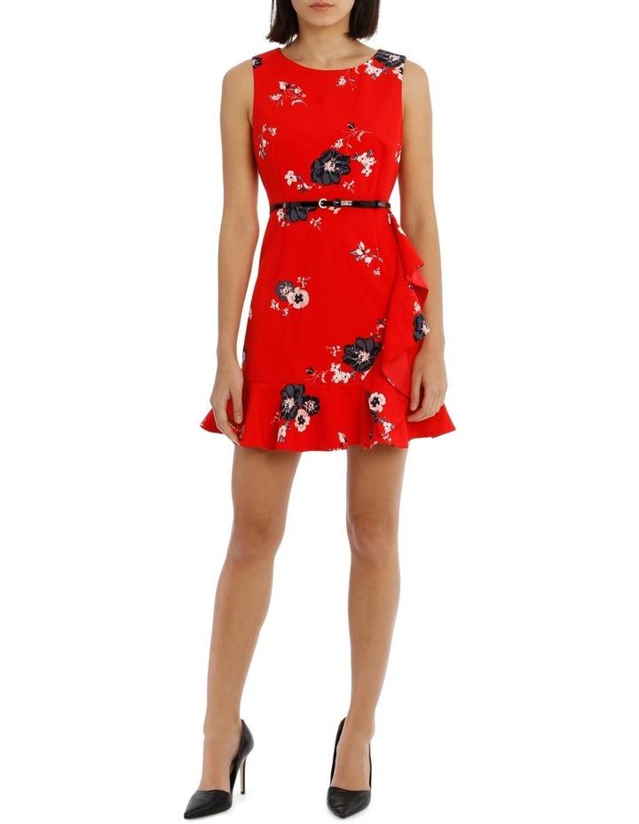 Work Ruffle Skirt Dress With Belt image 1