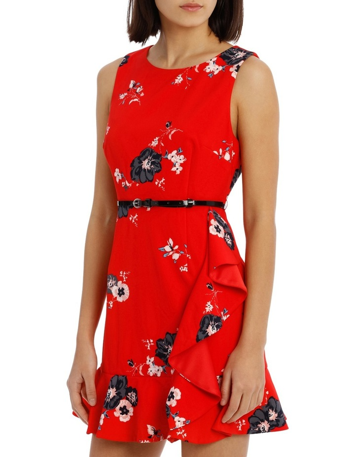 Work Ruffle Skirt Dress With Belt image 2