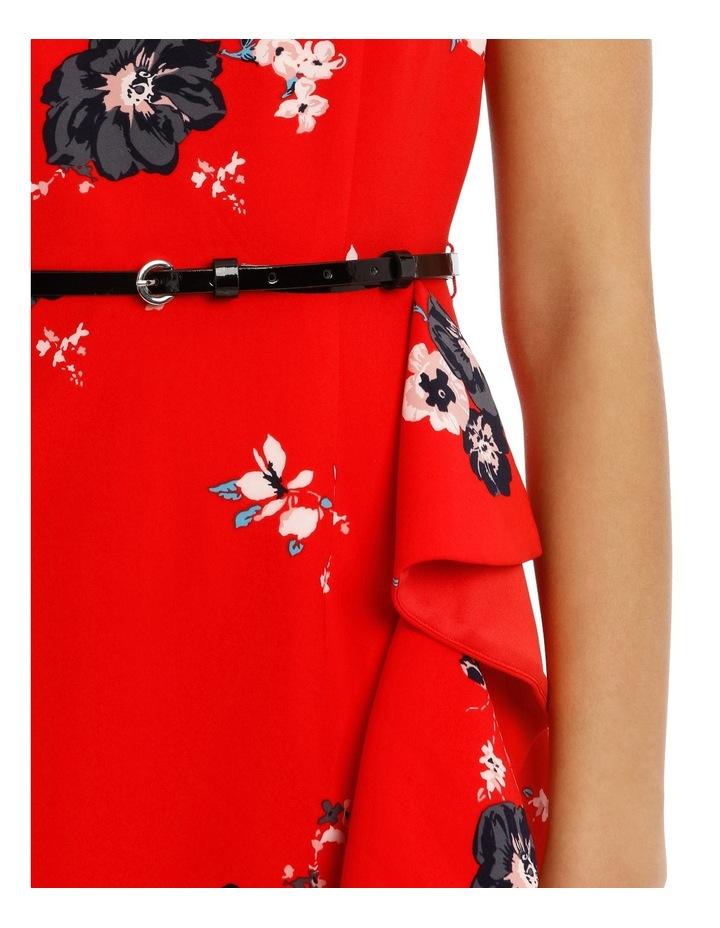 Work Ruffle Skirt Dress With Belt image 4