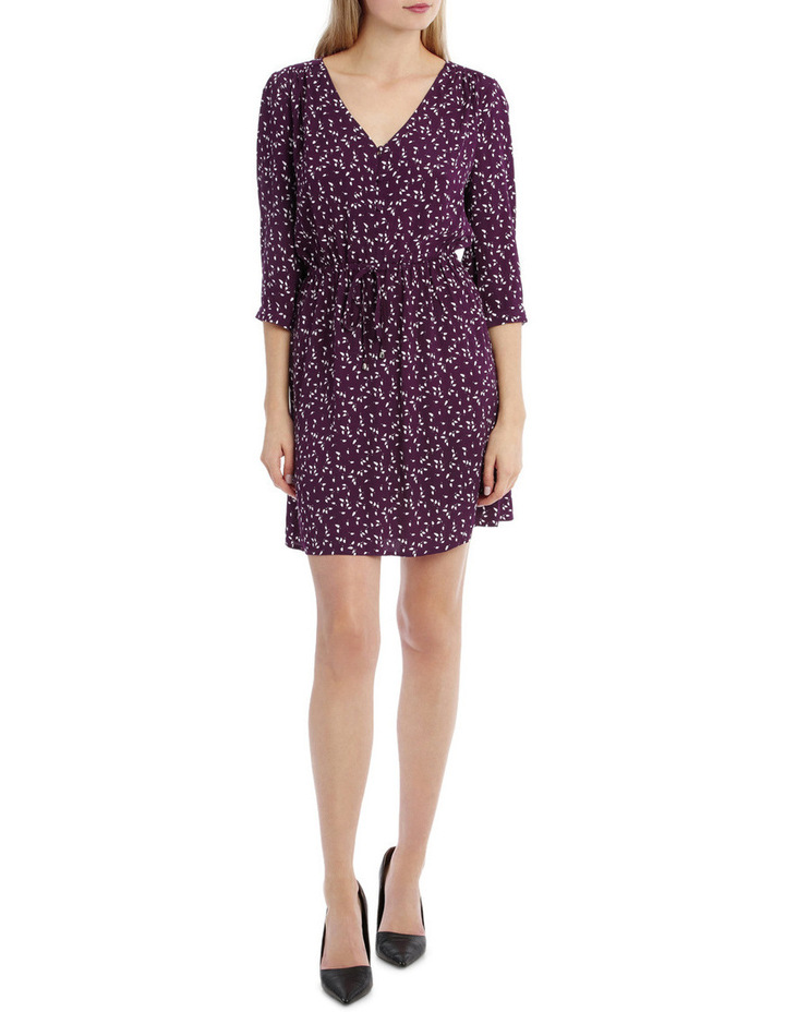 Draw Waist Collarless Shirt Dress - Micro Disty image 1