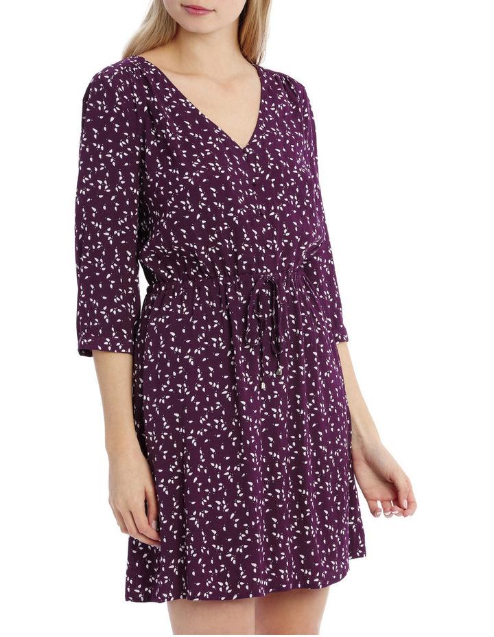 Draw Waist Collarless Shirt Dress - Micro Disty image 2