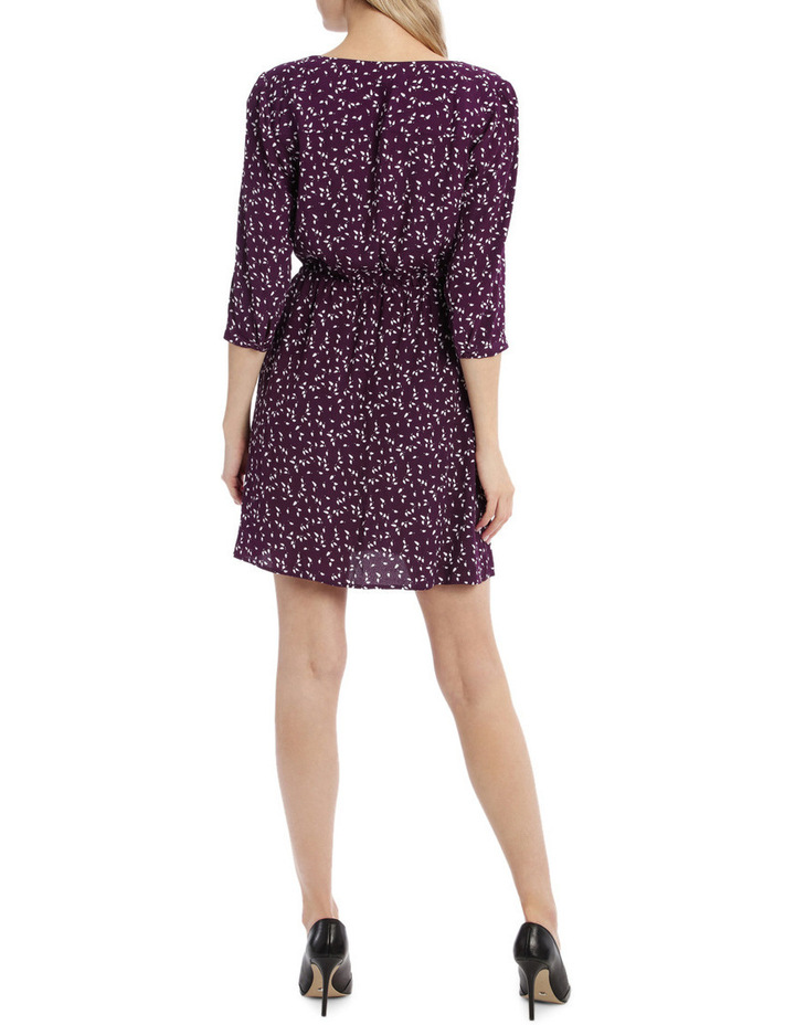 Draw Waist Collarless Shirt Dress - Micro Disty image 3