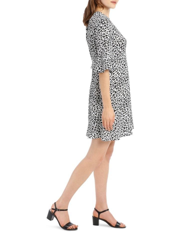 Frill Sleeve Skater Dress - Ocelot image 2