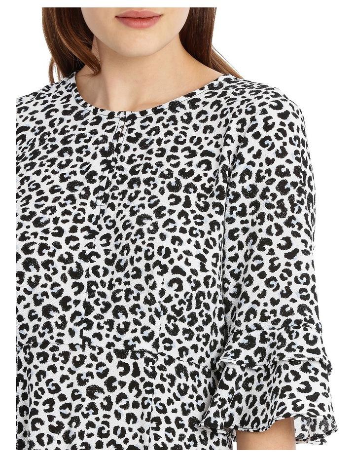 Frill Sleeve Skater Dress - Ocelot image 4