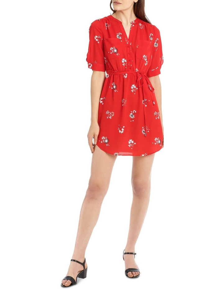 Double Pocket Shirt Dress - Scattered Paisley image 1