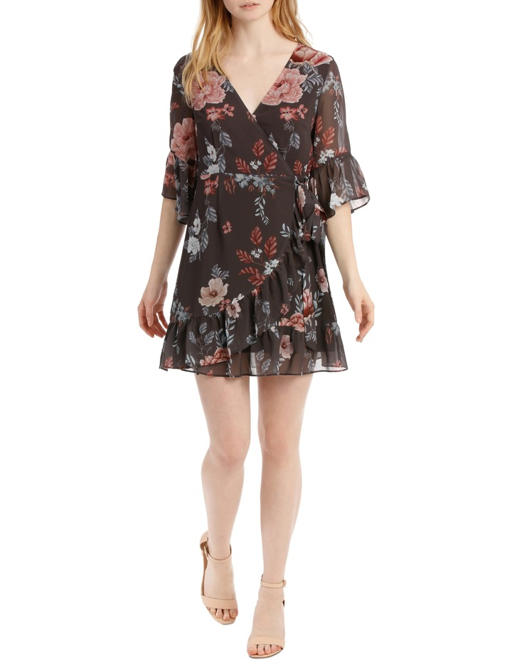 frilly wrap dress - botanical floral image 1