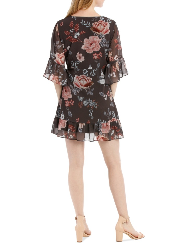 frilly wrap dress - botanical floral image 3