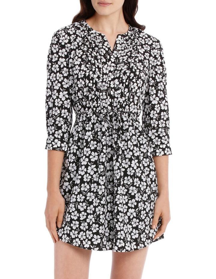 Pleat Front Shirt Dress - Stencil Floral image 1