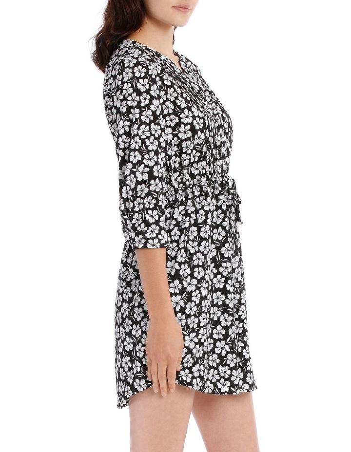 Pleat Front Shirt Dress - Stencil Floral image 2