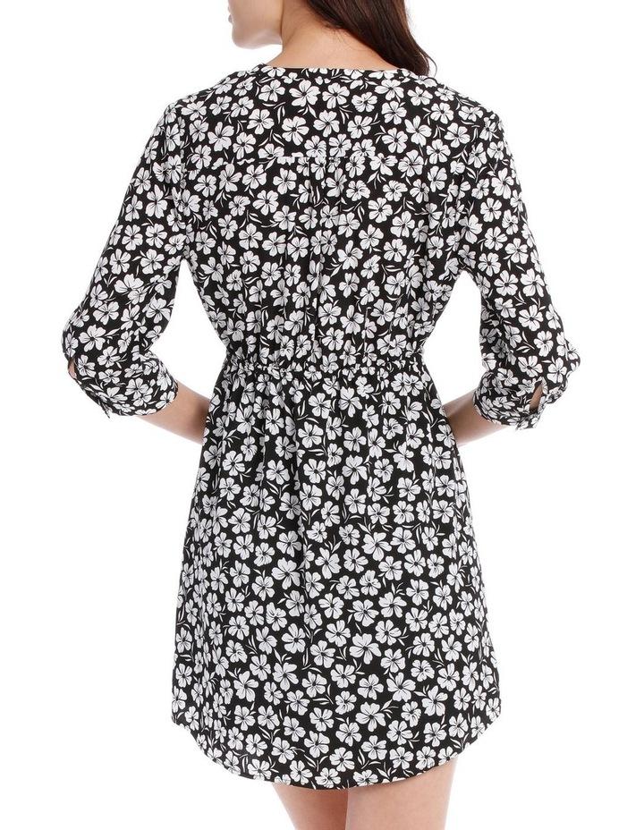 Pleat Front Shirt Dress - Stencil Floral image 3