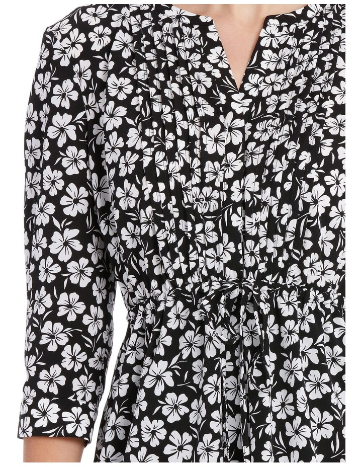 Pleat Front Shirt Dress - Stencil Floral image 4