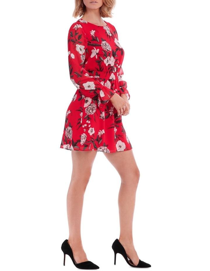 Large Bloom Shirred Waist Dress image 2