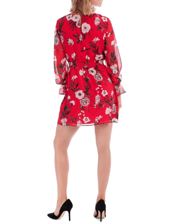 Large Bloom Shirred Waist Dress image 3