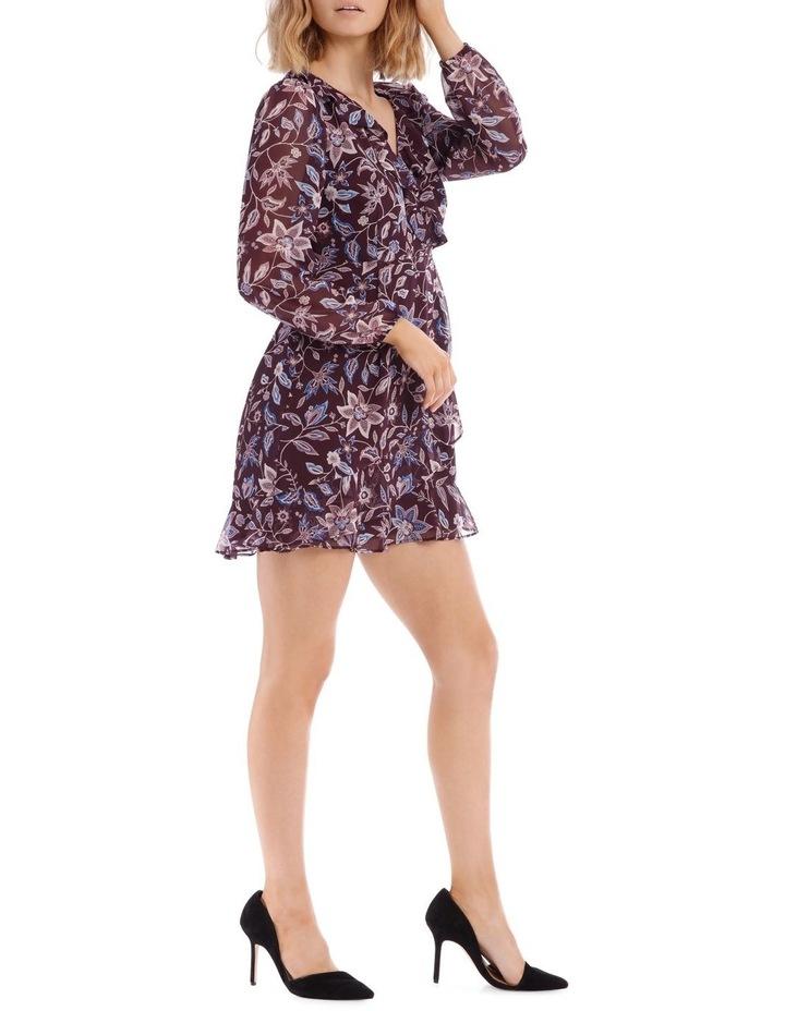 Paisley Frilly Fixed Wrap Dress image 2