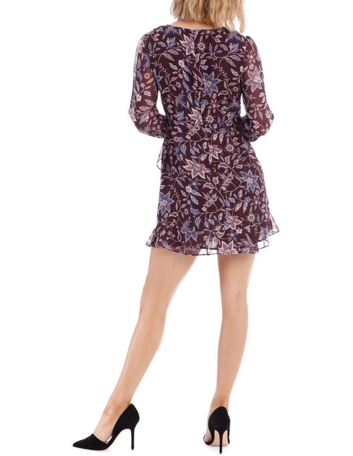 Paisley Frilly Fixed Wrap Dress image 3
