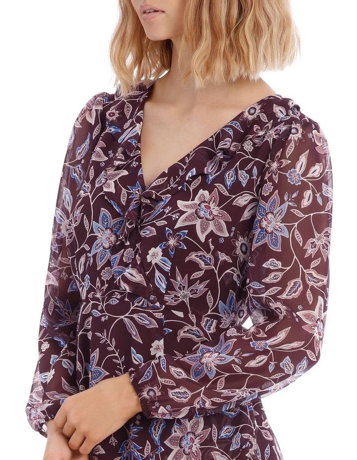 Paisley Frilly Fixed Wrap Dress image 4