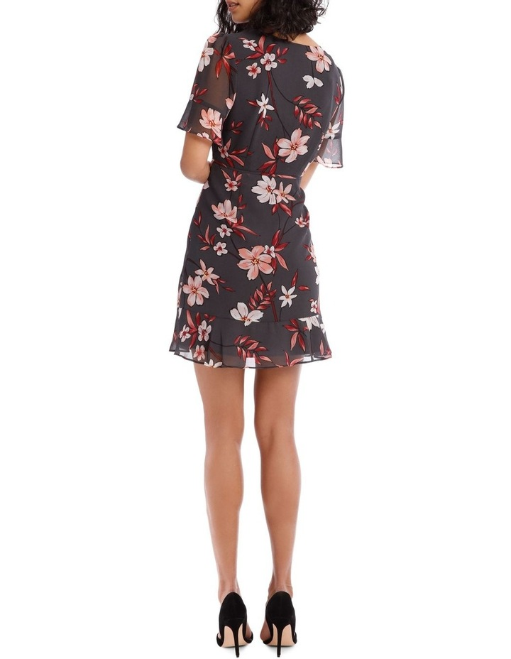 Painted Floral Short Sleeve Wrap Dress image 3