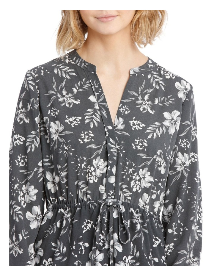 Roll Cuff Shirt Dress - Tropical Floral image 4