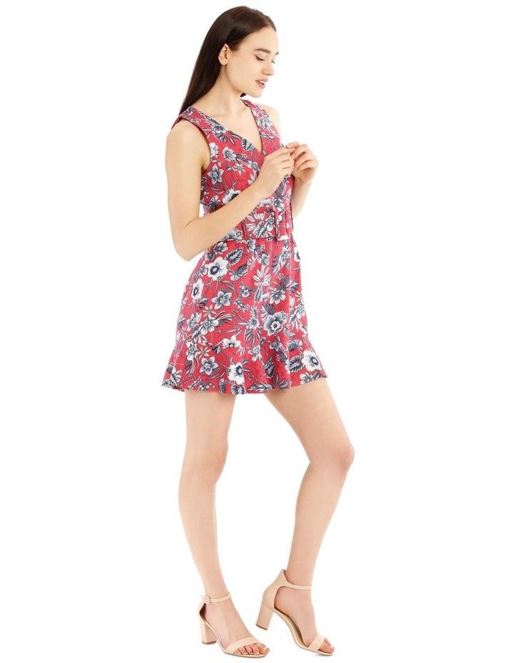 Self Belt Sleeveless Dress image 2