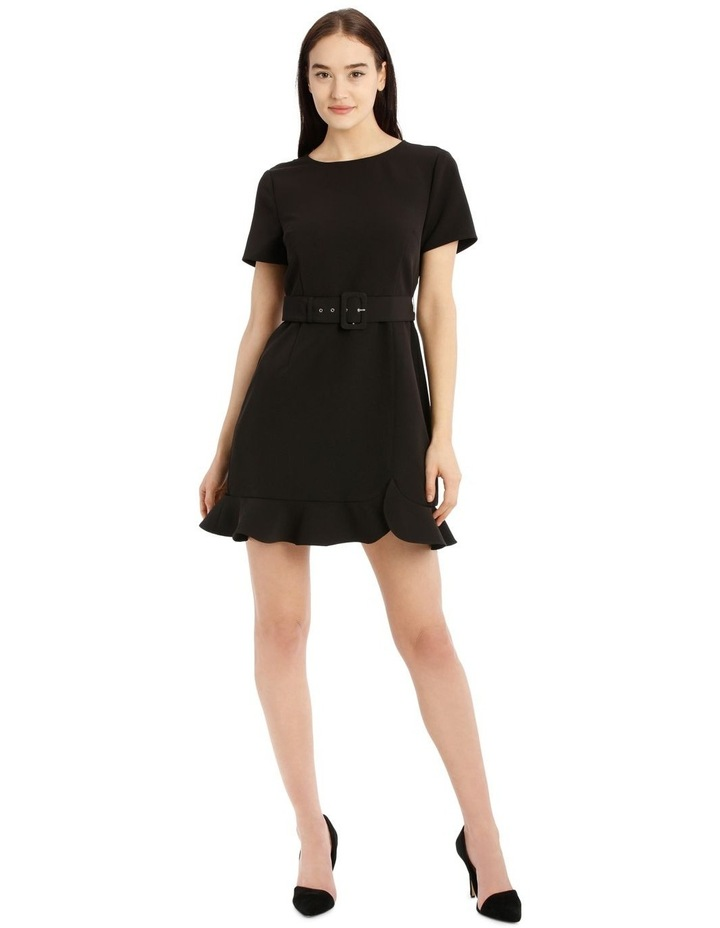 Belted Scuba Dress image 1