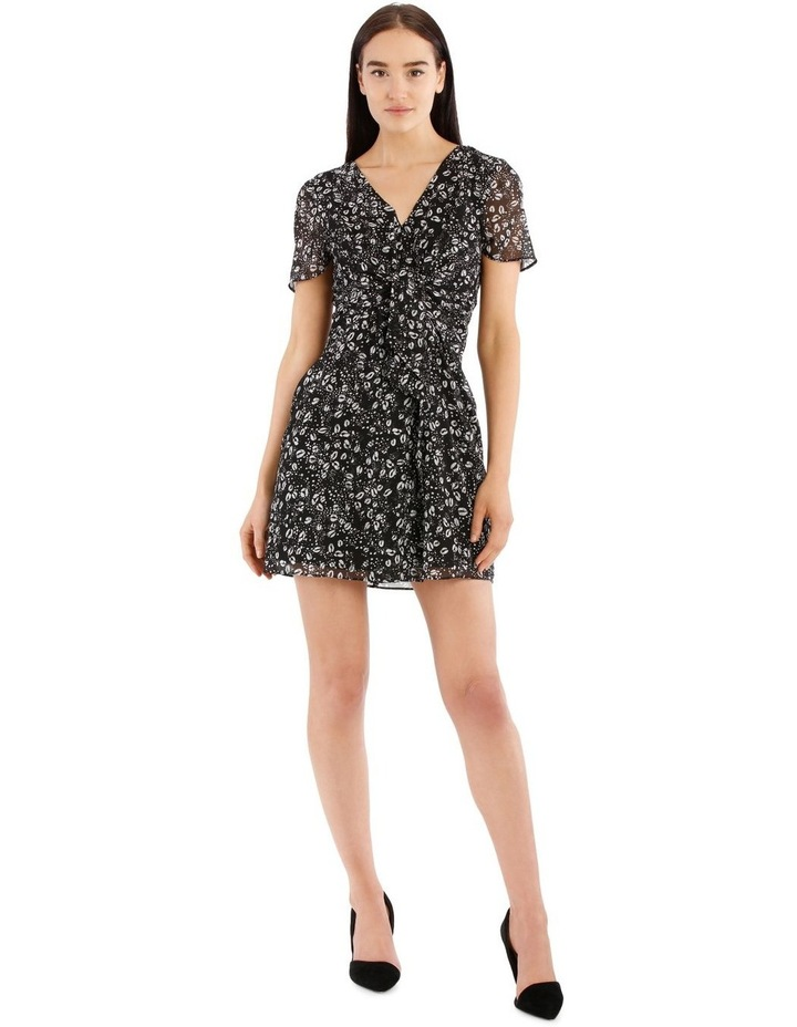 Tie Front Chiffon Dress - Graphic Ocelot image 1