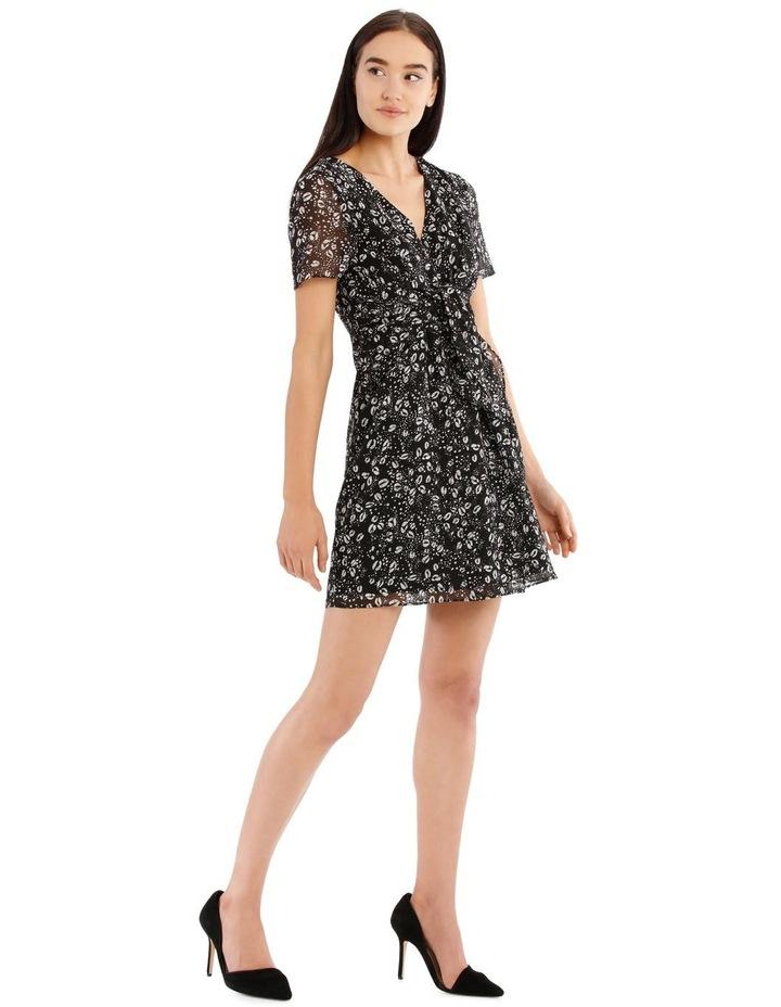 Tie Front Chiffon Dress - Graphic Ocelot image 2