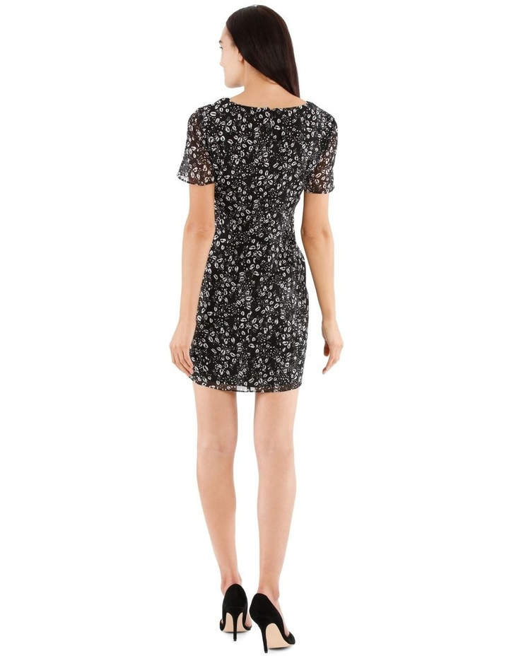 Tie Front Chiffon Dress - Graphic Ocelot image 3