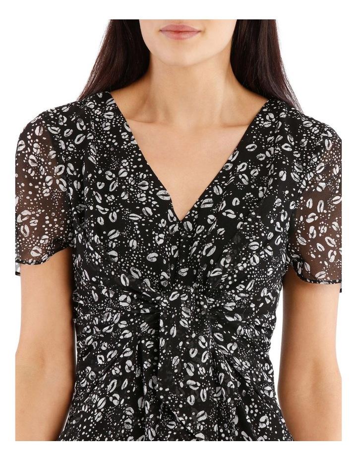 Tie Front Chiffon Dress - Graphic Ocelot image 4