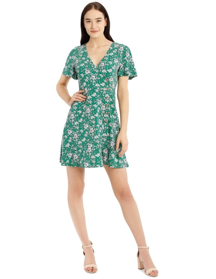 Button Front Jersey Dress image 1