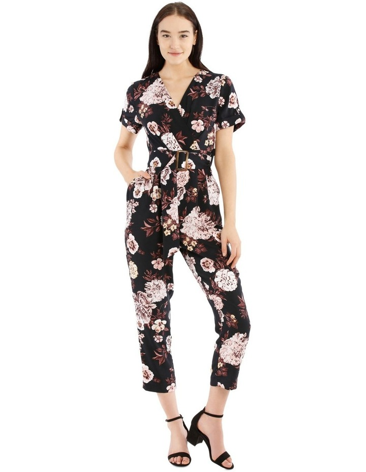 Belted Wrap Bodice Jumpsuit image 1