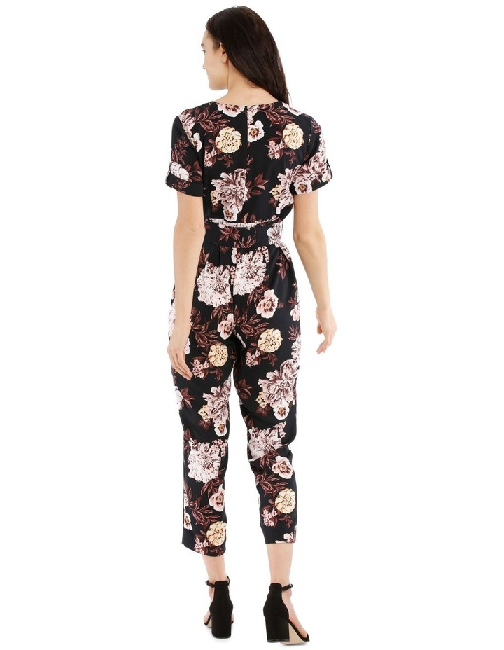 Belted Wrap Bodice Jumpsuit image 3