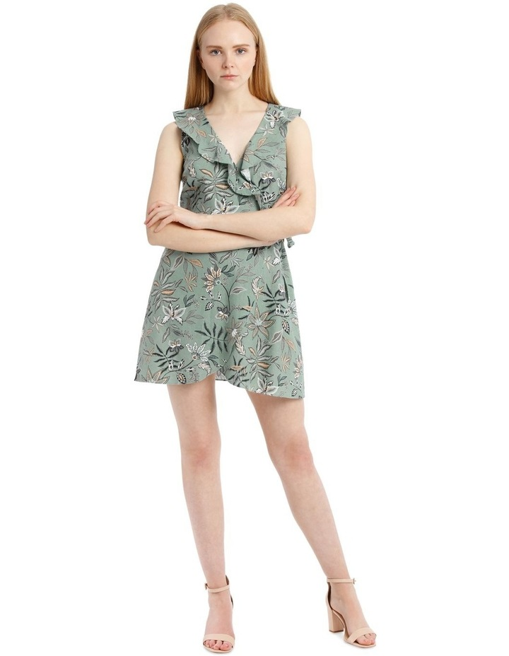 Sleeveless Paisley Linen Blend Dress image 1