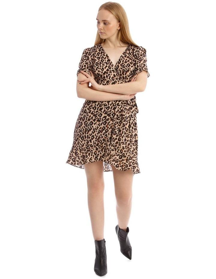 Short Puff Sleeve Wrap Dress image 1