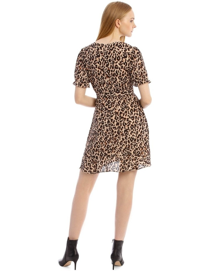 Short Puff Sleeve Wrap Dress image 3