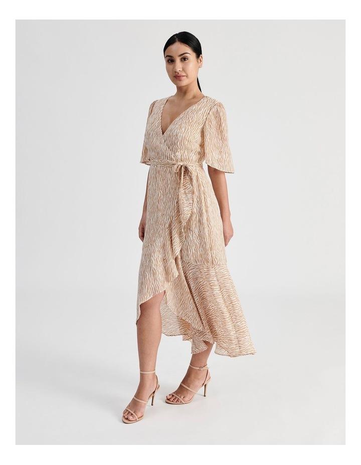 Petite Ruffle Wrap Maxi Dress image 2