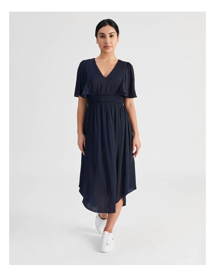 Petite Hankie Hem Satin Midi Dress image 1