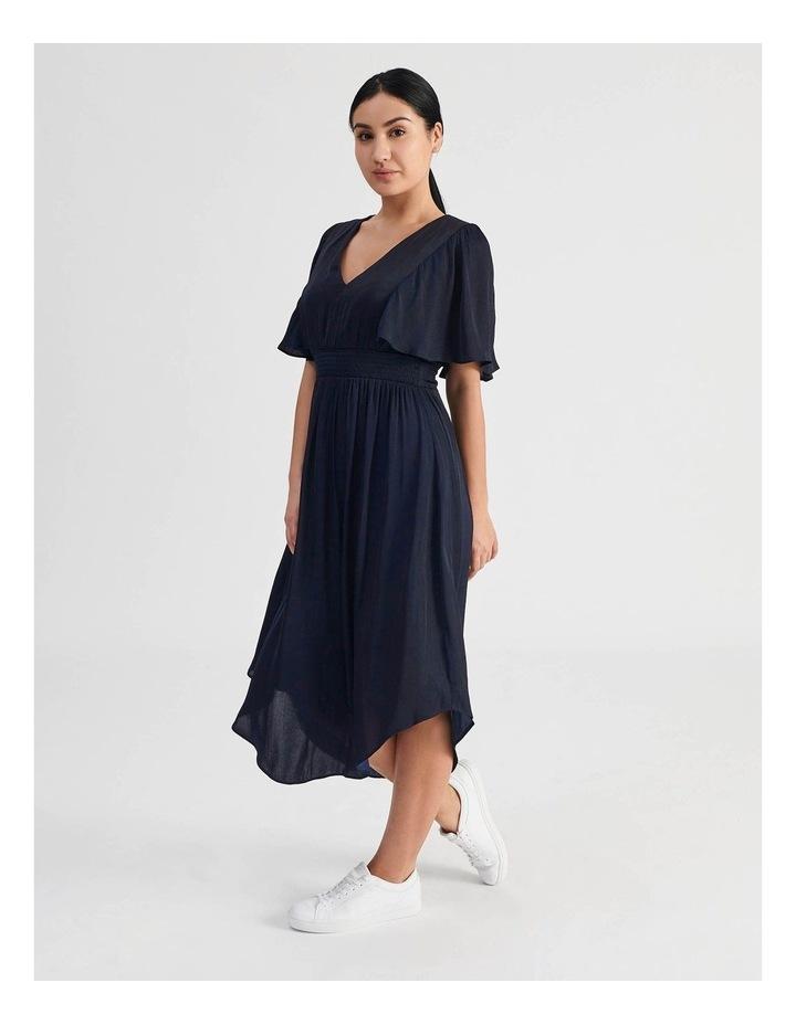 Petite Hankie Hem Satin Midi Dress image 2