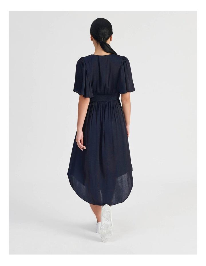 Petite Hankie Hem Satin Midi Dress image 3