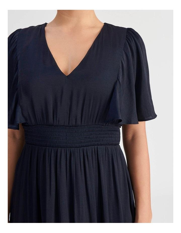 Petite Hankie Hem Satin Midi Dress image 4