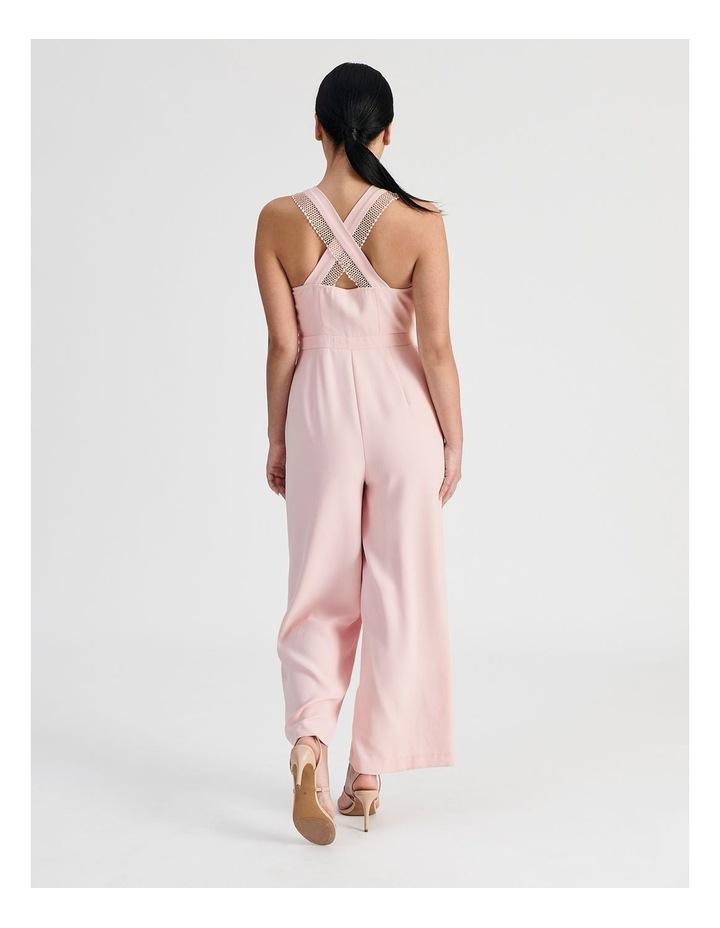 Petite Wide Leg Lace Trim Jumpsuit image 3