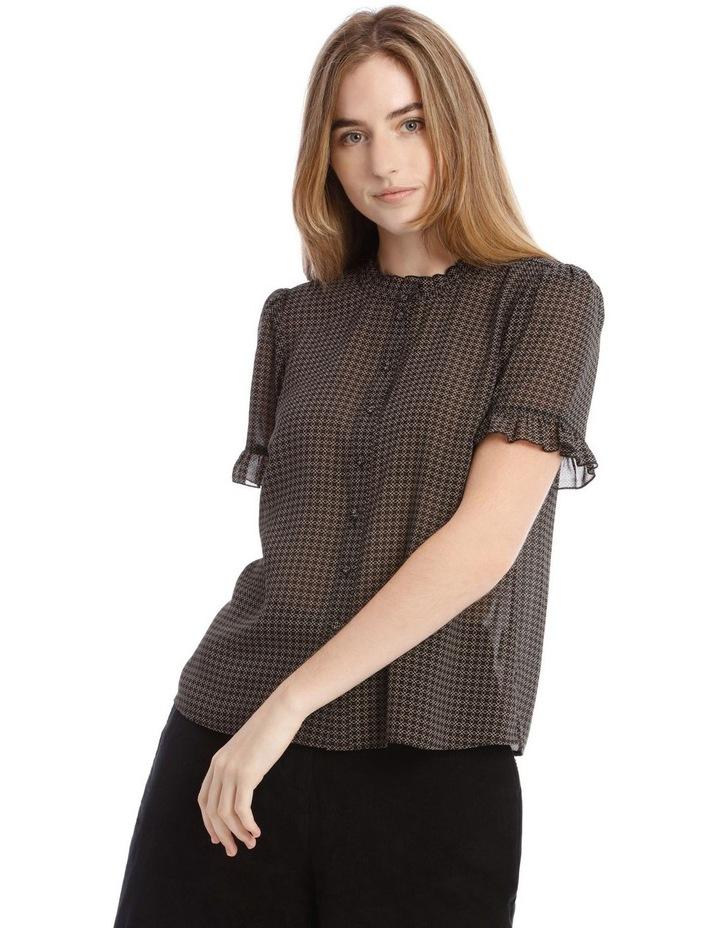 Frill Neck Button Up Shirt image 1