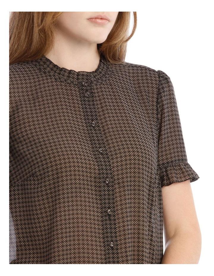 Frill Neck Button Up Shirt image 4