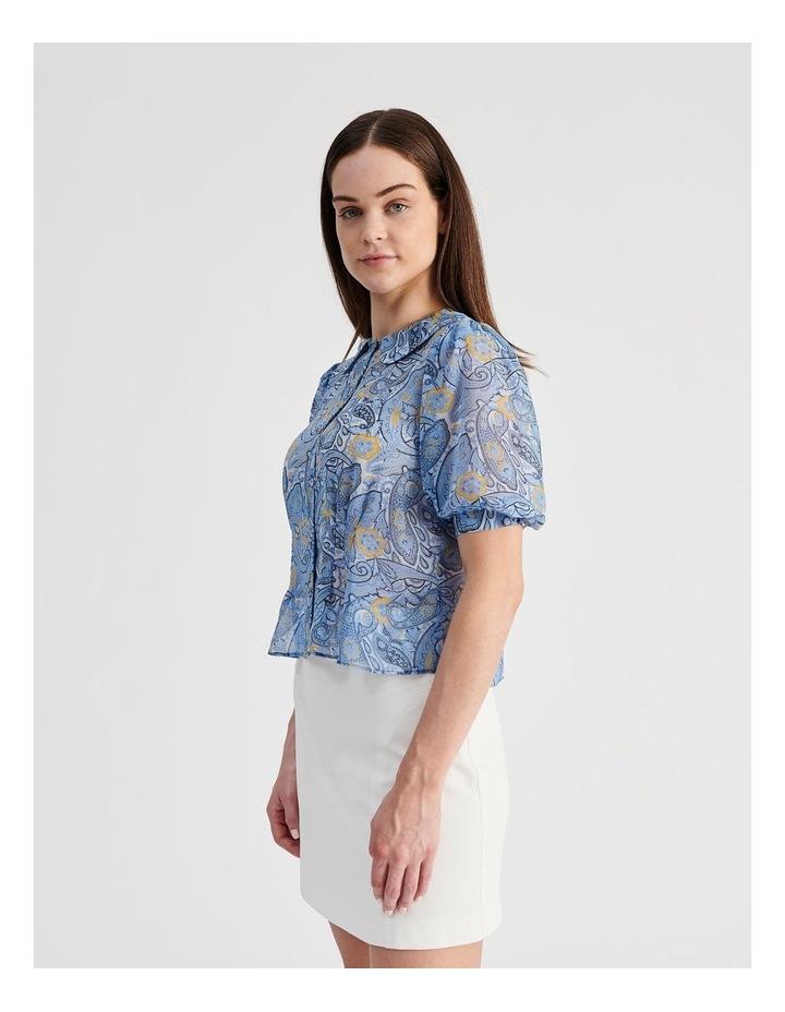 Puff Sleeve Pintuck Shirt image 2
