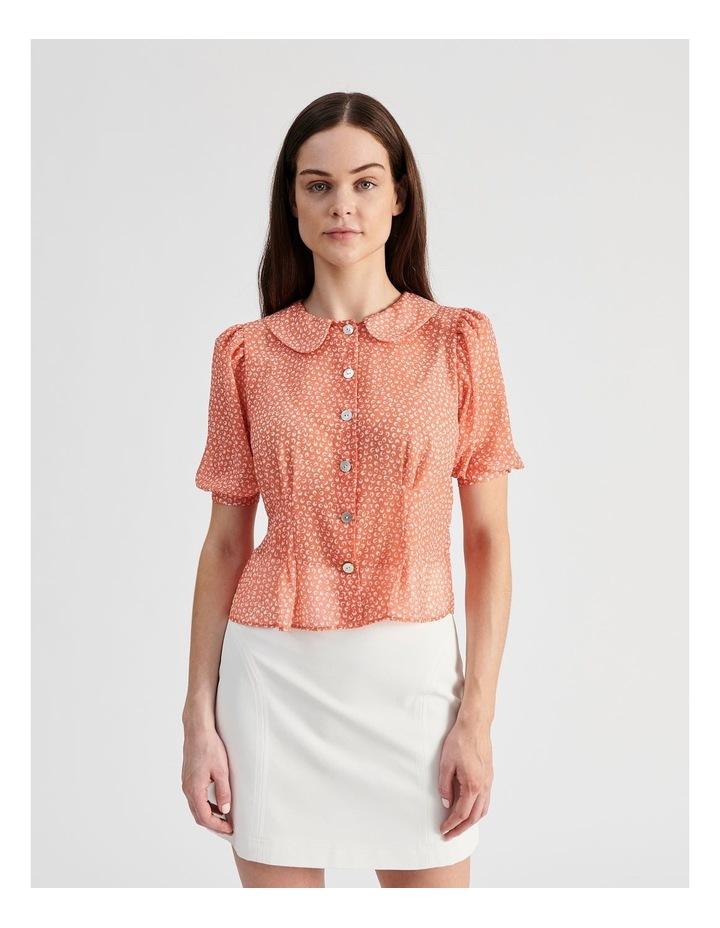 Puff Sleeve Pintuck Shirt image 1