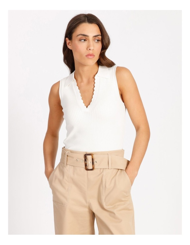 Knitted Sleeveless Polo image 1