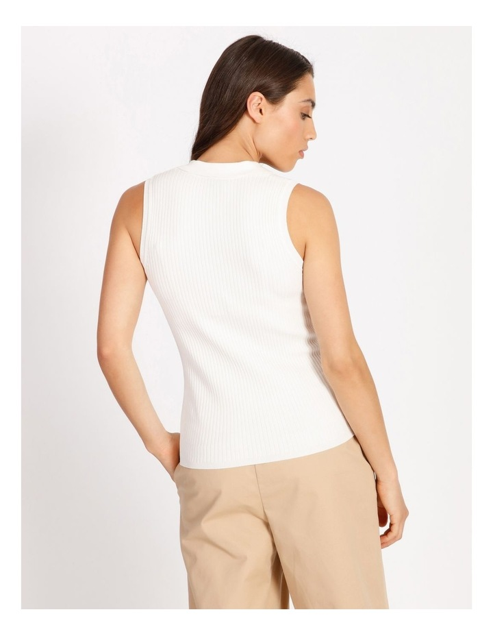 Knitted Sleeveless Polo image 3