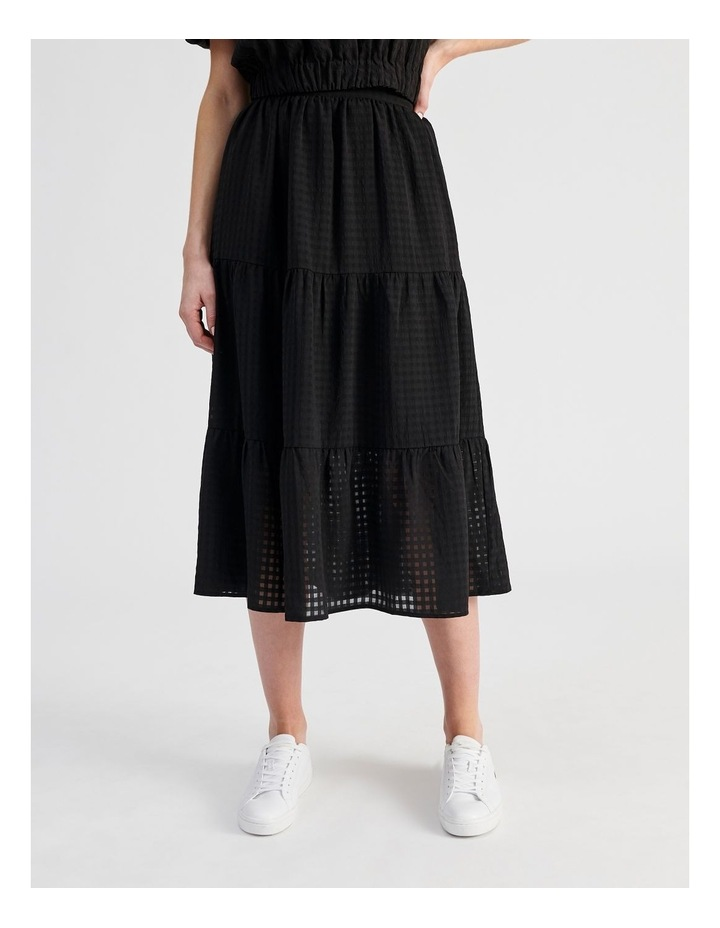 Gingham Tiered Skirt image 1